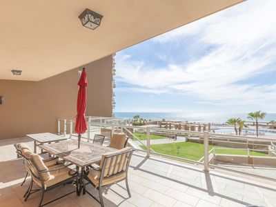 Photo for Largest 2 Bedroom Plan, Ground Floor Direct Patio Access To Pool And Beach
