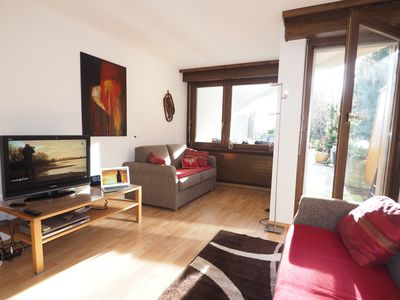 Photo for Large Studio loft 1 and a half, in rez of southern garden with swimming pool and view