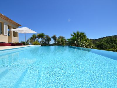 Photo for Superb Villa with exceptional sea view, St Tropez gulf