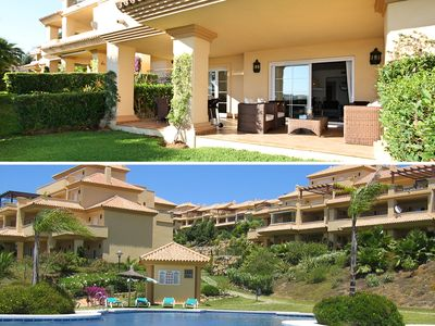 Photo for Luxury apartment by the pool with private garden and pool views!
