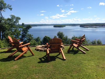 Photo for Spectacular views-Adirondack mountain views from every room, pool, kayaks, beach