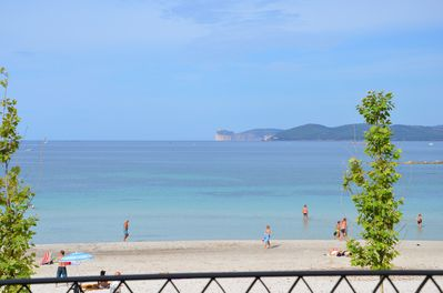 The San Giovanni beach in front of our apartments