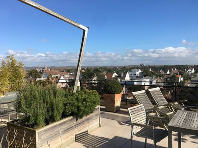 Photo for Crossing sea-facing apartment with 2 sea view terraces, Le Touquet and dunes