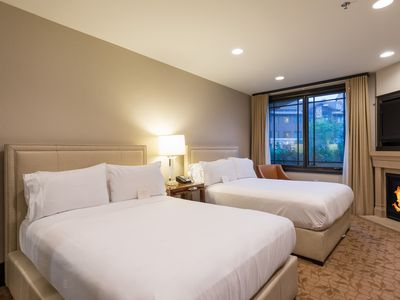 Photo for Luxury 5 Star Ski In/Out Two Queen Room - Up to 60% off Brand Name Hotel Rate - By PADZU
