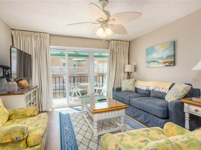 Photo for Spacious Oceanfront Condominium on St Simons with Pool, Beach Access, Fitness Ctr, Tennis