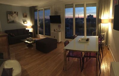 Photo for Quiet apartment of 80m² in the 17th Paris: breathtaking view of Eiffel Tower