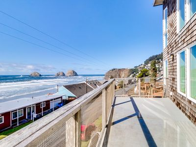 Photo for Stunning & modern oceanview home - a block and a half from the beach!