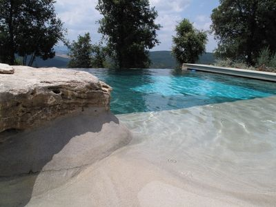 Photo for Apartment With Garden In Ancient Borgo With Pool Near San Gimignano