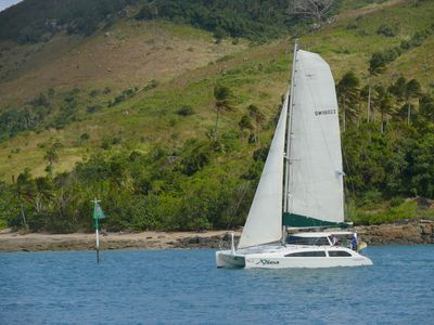 Photo for XTsea - From $399 with dinner and breakfast. Luxury catamaran ON THE HARBOUR!