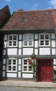 Photo for Lavishly restored half-timbered house in the romantic city center
