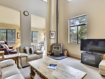 Photo for Only 0.5 Miles from the base of Squaw Valley Resort! Private Hot Tub on the Deck and Incredible Mountain Views with Easy Access to Winter Recreation.