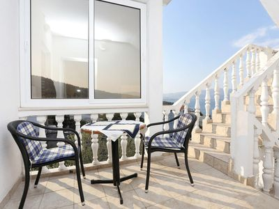 Photo for Two bedroom apartment with balcony and sea view Slatine, ÄŒiovo (A-10355-a)