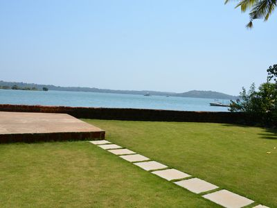 Photo for RIVER FRONT VILLA WITH 180 DEGREE VIEW OF RIVER CHAPORA