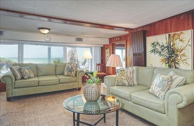 living room looking at beach