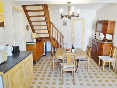 Photo for Two-bedroom house in a charming canal village, Burgundy, France with free wifi