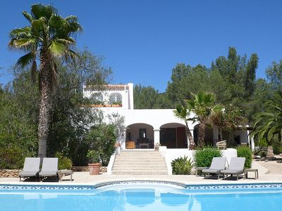 Photo for Magnificent villa near Benirras Beach – idyllic spot in the chic north of Ibiza
