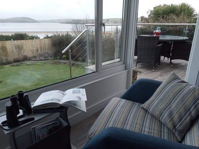 Photo for Uninterrupted spectacular views over the Camel Estuary and ocean.