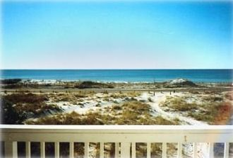 The view of tranquility from the deck of our Beachfront Town Home.