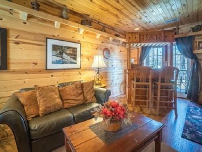 Photo for Big Whiskey Suite*King Suite with Bar and Kitchenette Cabin Decor