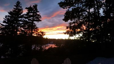 View from patio.Every sunset seems better than the last!