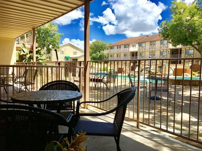 Photo for 2bdr/2bth sleeps up to 8 guests! Poolside!!