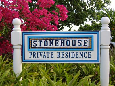 Stonehouse offers 3 vacation rental apartments all facing the blue sea below.