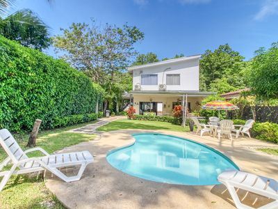 Photo for Beautiful dog-friendly beach-house with private pool and tv lounge!