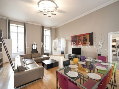 Photo for Modern Parisian home with very high ceiling in the heart of the Marais