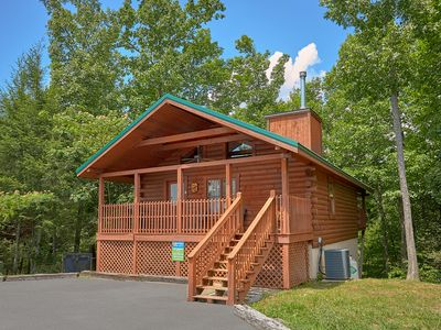 Photo for Two bedroom log cabin home two miles to Downtown Gatlinburg w/ master suites