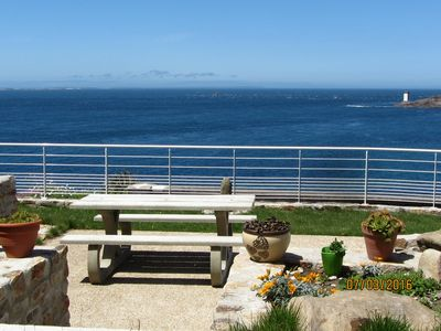Photo for Apartment in a house by the sea with stunning views