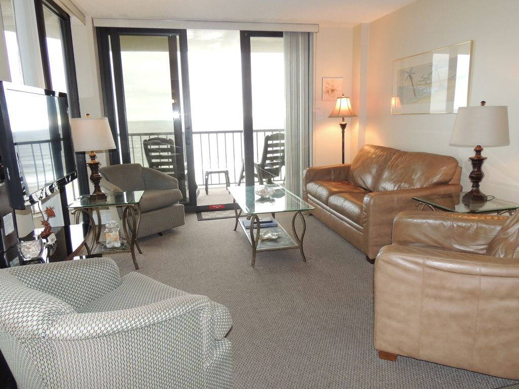 Crescent Sands At Cb Clean Nicely Decorated Oceanfront Condo Large Balcony Crescent Beach