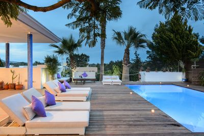 Private swimming pool and lounge area to enjoy the warm summer nights