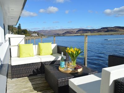 Photo for Perfect, restful, dramatic holiday home with fabulous 18 m balcony over the sea