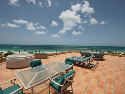 Photo for BEACHFRONT - EAGLE BEACH - OCEANIA RESORT - Ultimate Penthouse 3BR condo -BG531