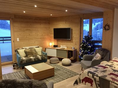 Photo for Luxury, family friendly apartment close to the ski slopes with stunning views