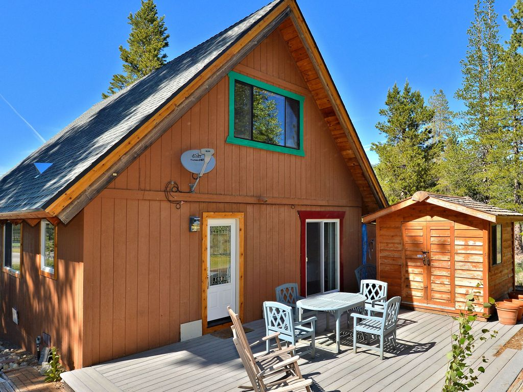 2br plus loft cabin with mountain views close to river for Echo lake cabin rentals
