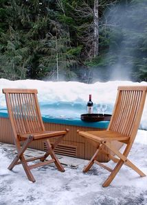 Private hot tub - relax and enjoy yourself after a day of activities.