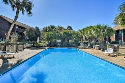 This condo also grants access to the community pool!