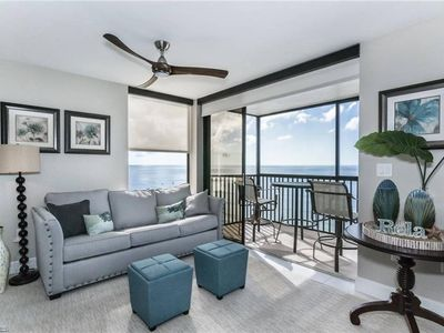 Photo for Vanderbilt Beach Front, 7th Floor Condo with Sunset, Gulf and Beach Views!
