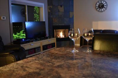 Curl up in Front of the Fireplace in the Evenings.