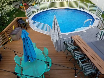 Photo for Perfect Family Place - HEATED POOL, Walk to Downtown/Beach, Hot Tub always open