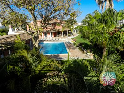 Photo for VILLA ON THE NATURAL PARK AND CLOSE TO BEACH, BEAUTIFUL GARDEN AND SWIMMING POOL