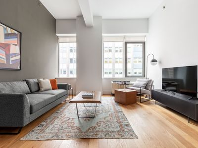 Photo for Bright Tribeca 1BR w/ Gym, Doorman, nr. Freedom Tower, by Blueground