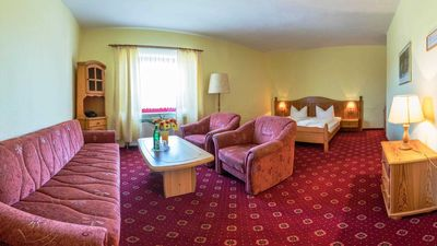 """Photo for Double room incl. B & B - Hotel """"Am Gothensee"""""""