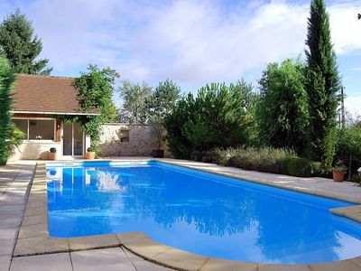 Photo for 2 bedroom Villa, sleeps 6 in Thenon with Pool and WiFi