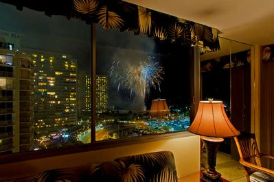 The View of Friday Night Fireworks from the Living Room - The View of Friday Night Fireworks from the Living Room