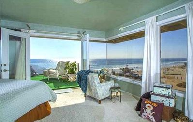 BeachFront Oceanfront Luxury Private Home Directly On Moonlight Beach Encinitas