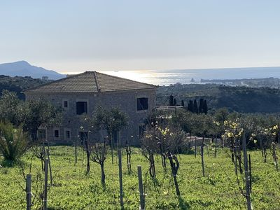 Photo for Villa overlooking the sea and the fortress in Methoni