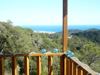 Photo for Ecoart WOODEN HOUSE COSTA BRAVA WITH SEA VIEWS AND MOUNTAINS