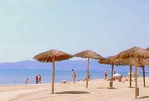 The beautiful Canet beach 150 metres away
